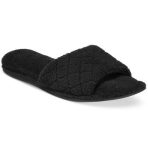 Charter Club Open-Toe Memory Foam Scuff Slippers